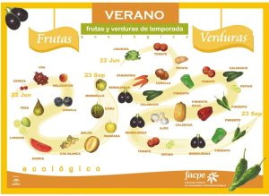 frutas temporada verano