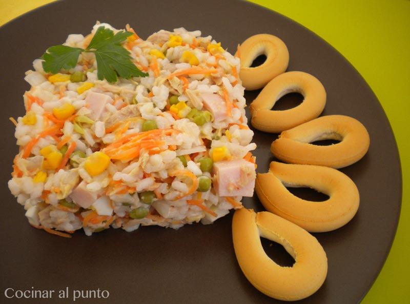 Ensalada de arroz cocinar al punto - Ensalada de arroz light ...