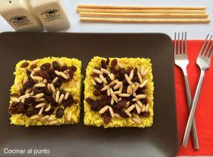 arroz con pasas y curry
