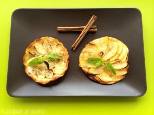 Tartaleta de manzana y canela light