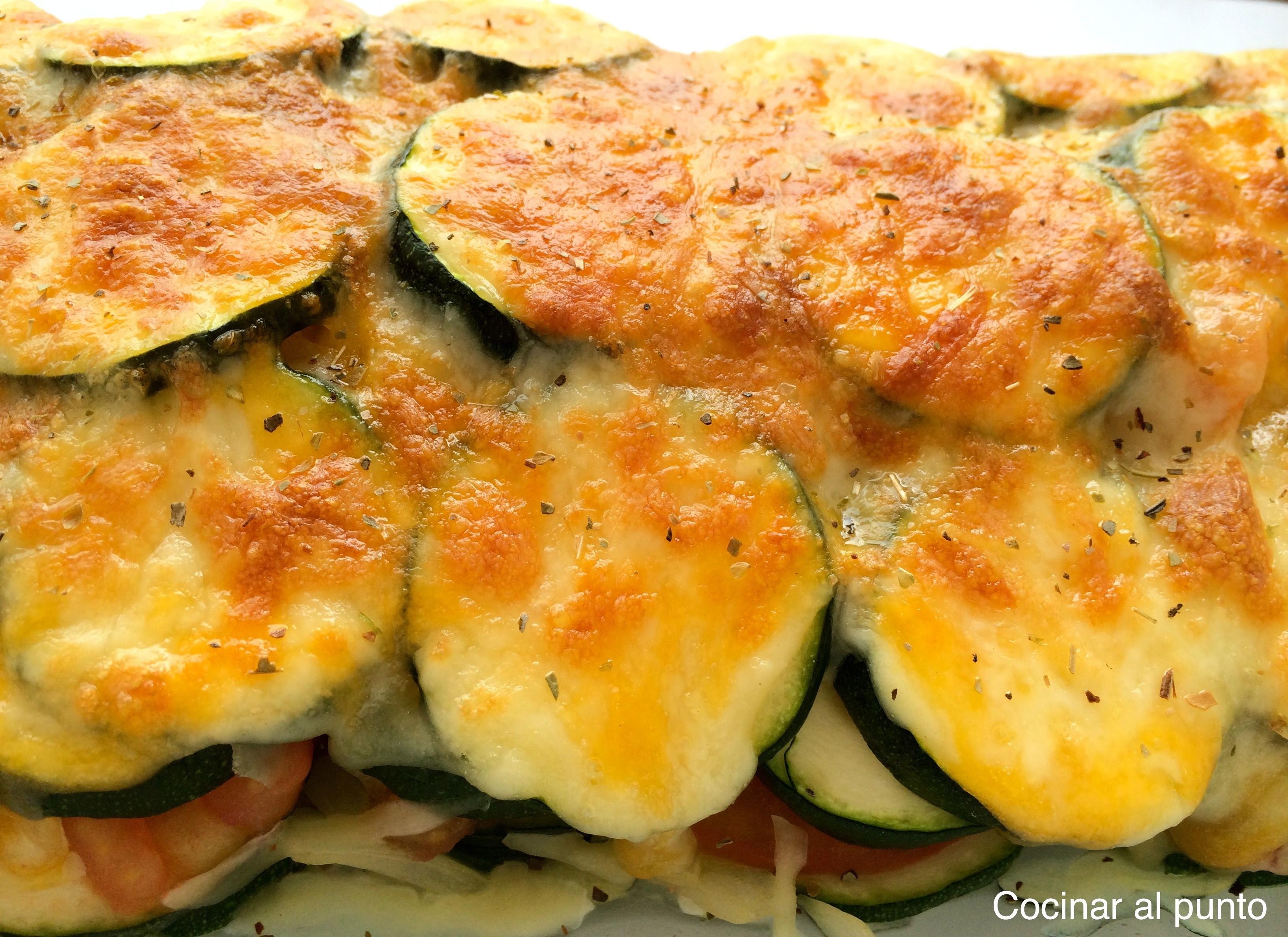 Calabacines gratinados cocinar al punto - Cocinar verduras al horno ...