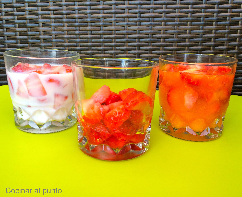 3 postres light con fresas cocinar al punto - Postres con fresas naturales ...