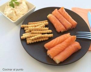 entrantes con salmon