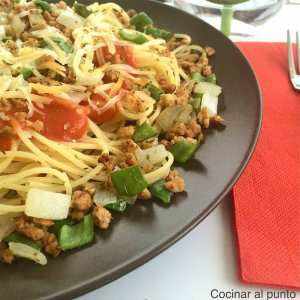 pasta vegetales soja
