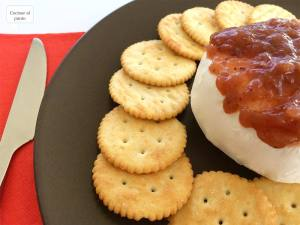 bola queso y mermelada